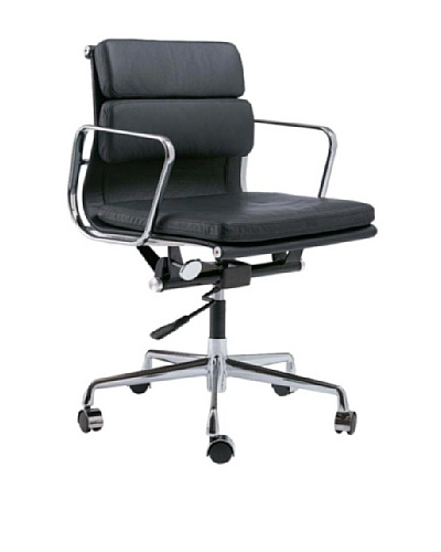 Cubo Leather Office Chair, Black