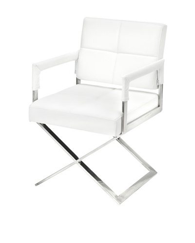 Cubo Leather Chair, White