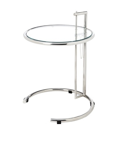 Cubo Stainless Steel End Table, Silver