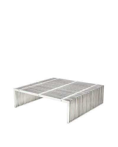 Cubo Parallel Coffee Table, Stainless Steel