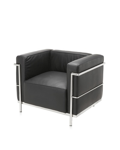 Cubo Leather Chair, Black