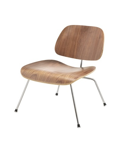 Cubo Plywood and Stainless Steel Chair, Walnut