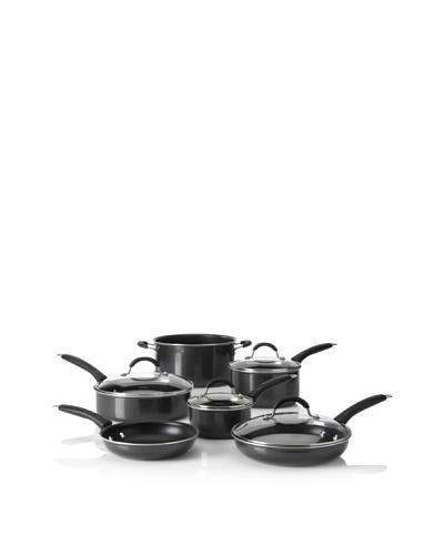 Cuisinart 10-Piece Aluminum Advantage Non-Stick Cookware Set, Black