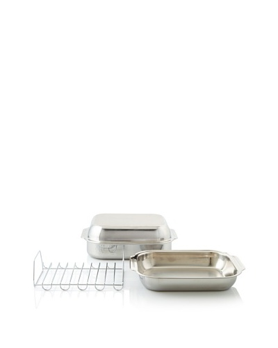 Culinary Institute of America Masters Collection Stainless Steel Covered Roaster with Rack
