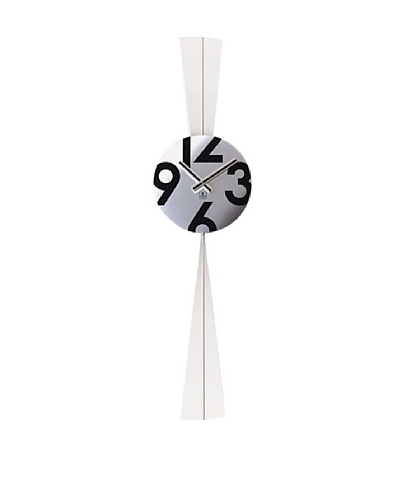 Stainless Steel Round Pendulum Wall Clock, 28.5