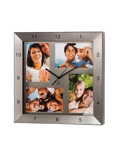 "Metal Photo Clock, 13"""