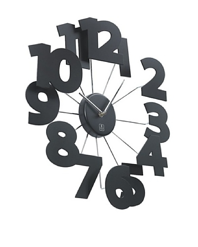 "3D Wooden Wall Clock, 18"""