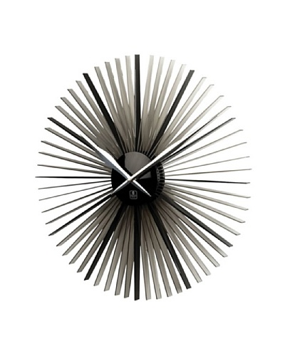 Daisy Acrylic Wall Clock with Silver Plated Hands, 20""