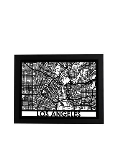 Cut Maps Los Angeles Framed 3-D Street Map