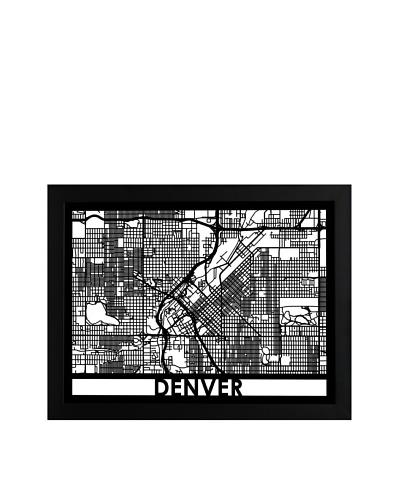 Cut Maps Denver Framed 3-D Street Map
