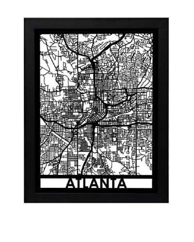 Cut Maps Atlanta Framed 3-D Street Map
