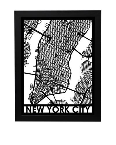 Cut Maps New York City Framed 3-D Street Map