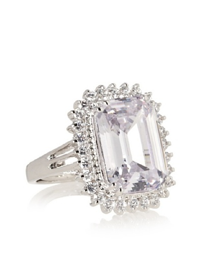CZ by Kenneth Jay Lane Emerald Cut Pave Ring