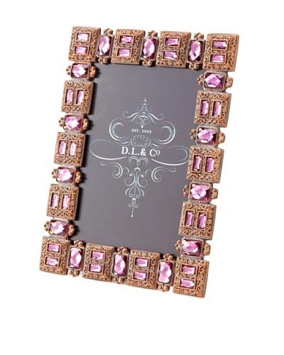 D. L. & Co. Jeweled Frame, Violet, 4 x 6