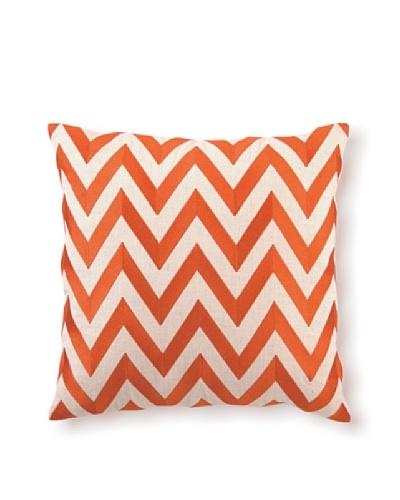 D.L Rhein Zig-Zag Embroidery Pillow, Orange, 20 x 20