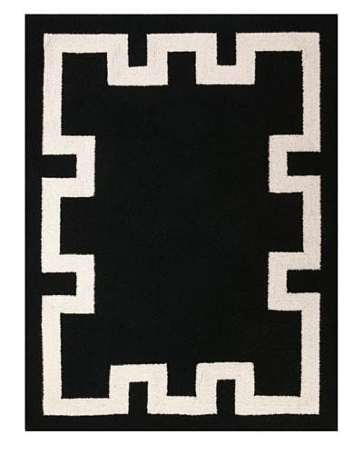 D.L. Rhein Simple Greek Key Rug, Black