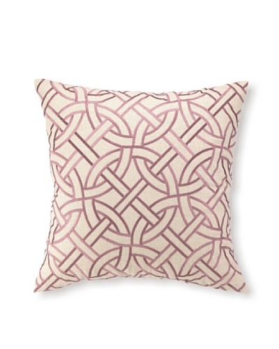 D.L Rhein Circle Link Embroidery Pillow, Orchid, 20 x 20