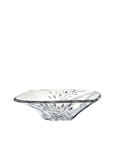 Dale Tiffany Leaf Crystal Bowl, Clear