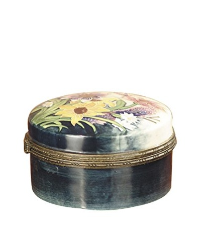 Dale Tiffany English Garden Jewelry Box, Cream Multi