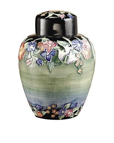 Dale Tiffany Flower Garden Jar, Green Multi