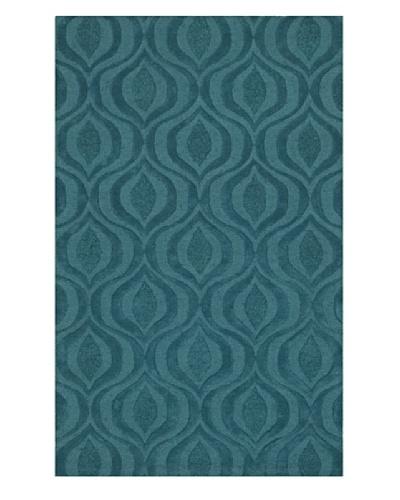 Dalyn Tones Geometric Wool Rug [Teal]