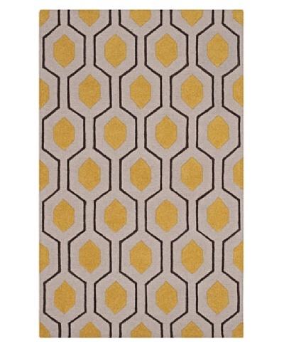 Dalyn Tones Geometric Wool Rug, Silver [Silver]