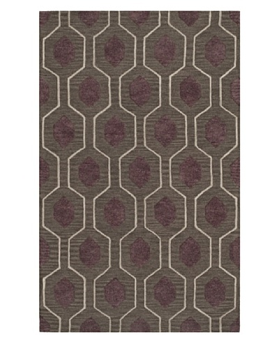 Dalyn Tones Geometric Wool Rug [Charcoal]