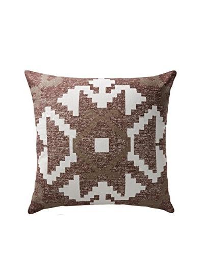 Darzzi Aztec Pillow, Choco/Light Brown/Natural