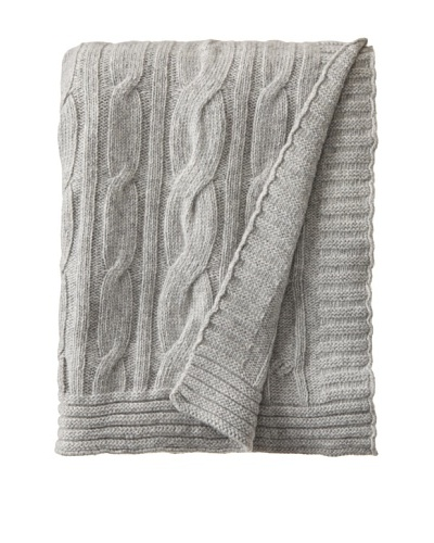Darzzi Broad Cable Throw, Grey