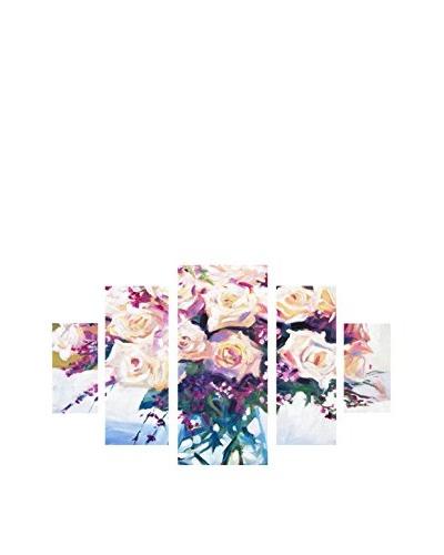 David Lloyd Glover Roses In Glass 5-Panel Canvas Art Set