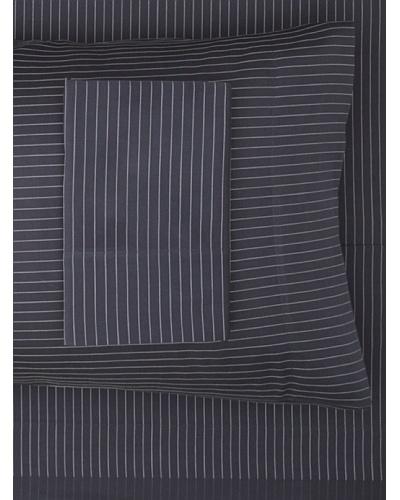 Dea Lugano Printed Stripe Sheet Set [Navy/White]
