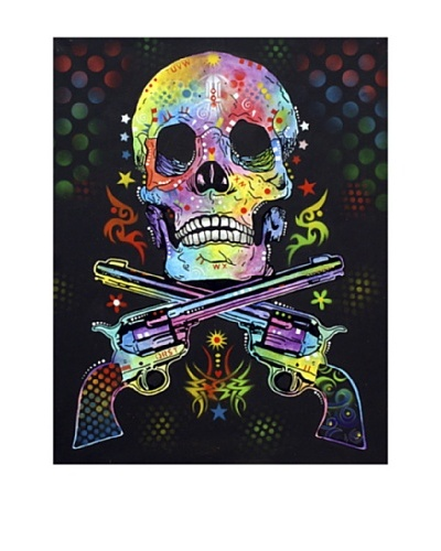 "Dean Russo ""Skull & Guns"" Limited Edition Giclée Canvas"