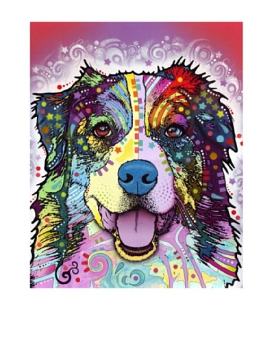 Dean Russo Australian Shepherd Limited Edition Giclée Canvas