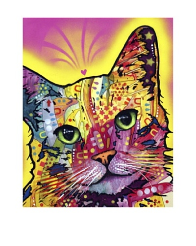 "Dean Russo ""Tilt Cat"" Limited Edition Giclée Canvas"