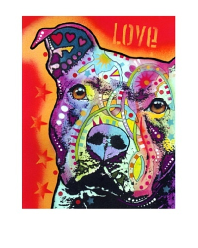 Dean Russo Thoughtful Pitbull Limited Edition Giclée Canvas
