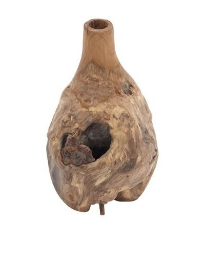 Teak Wood Bottle Vase