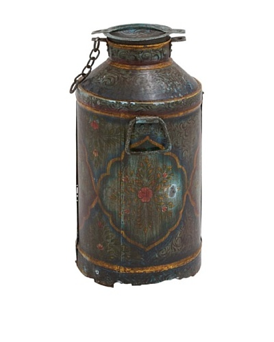Metal Aged Milk Can