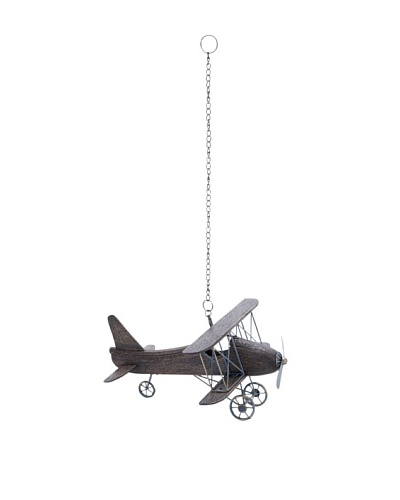 Suspended Airplane Model with Wooden Frame