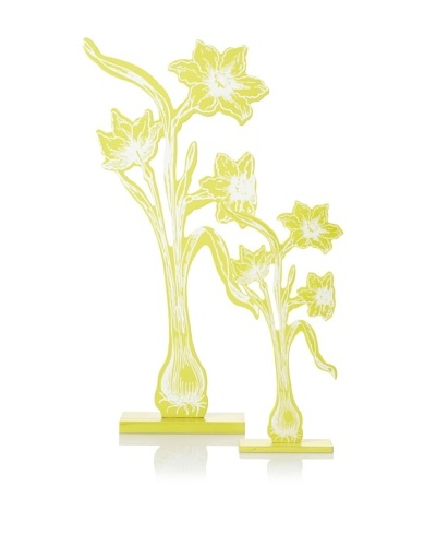 The HomePort Collection Set of 2 Daffodil Accents