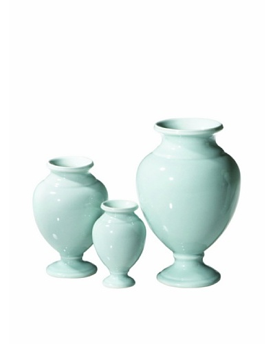 Global Views Set of 3 Pompeii Urns, Sky