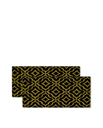 Raymond Waites Set of 2 Florence Coir Doormats, Black
