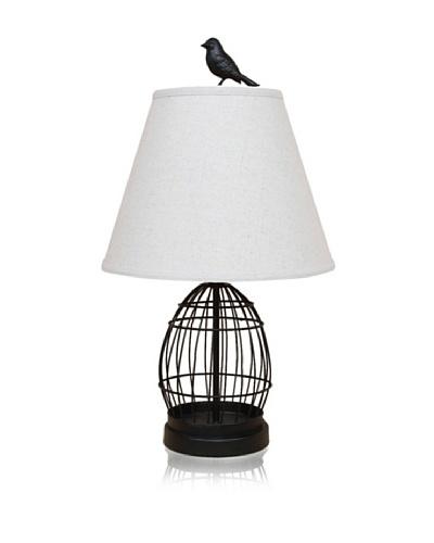 Dennis East Birdcage and Bird Finial Lamp