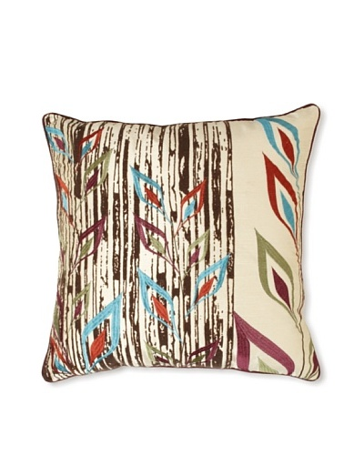 Design Accents Tribal Flower, Ivory, 20 x 20