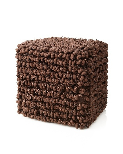 Design Accents Funberry Pouf, Chocolate, 18 x 18 x 18