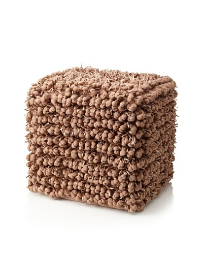 Design Accents Funberry Pouf, Rugby Tan, 18 x 18 x 18