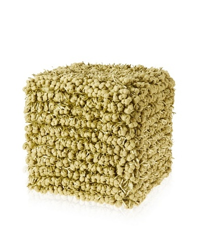 Design Accents Funberry Pouf, Lime, 18 x 18 x 18
