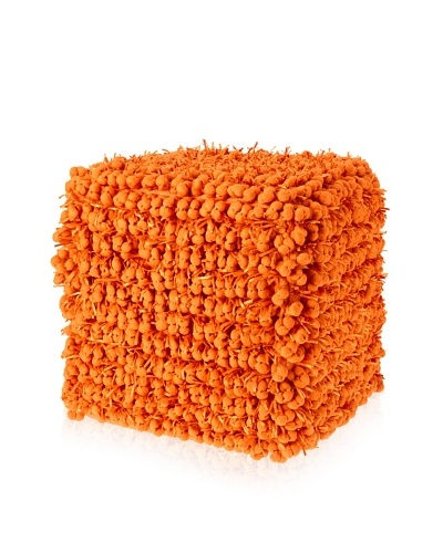 Design Accents Funberry Pouf, Orange, 18 x 18 x 18