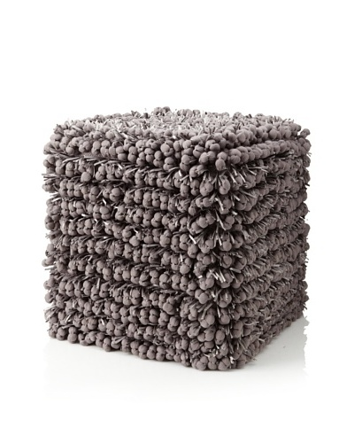 Design Accents Funberry Pouf, Grey, 18 x 18 x 18