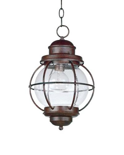 Design Craft Carter Hanging Lantern, Gilded Copper