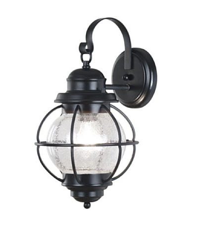 Design Craft Carter Wall Lantern, Medium, Black